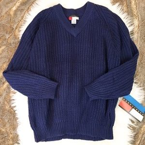 Sweaters - NWT Navy Blue Soft Cable Knit Sweater